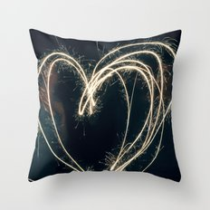Sparkler Love II Throw Pillow