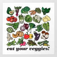 Eat Your Veggies! Art Print