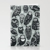Flock of Owls Stationery Cards