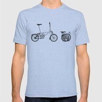 Brompton Bicycle Mens Fitted Tee Athletic Blue SMALL