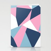 Abstraction Pink Stationery Cards