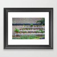 Pots And Plants Framed Art Print