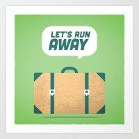 Runaway. Art Print