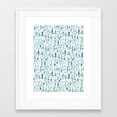 Crowd Pattern Framed Art Print