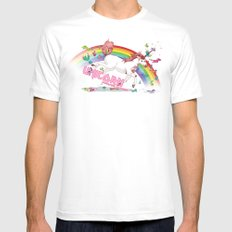 Unicorn: Destroyer of Ponies! SMALL White Mens Fitted Tee