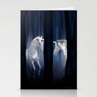 White Unicorns Stationery Cards