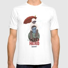 KID HERO White SMALL Mens Fitted Tee