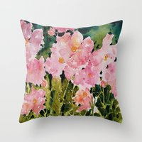 Popies Throw Pillow