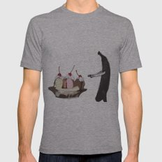 The Fruit that ate itself  Mens Fitted Tee Athletic Grey SMALL