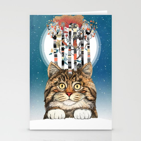 Feline Forest Stationery Card