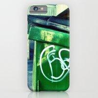 Green graffiti dumpster. iPhone 6 Slim Case