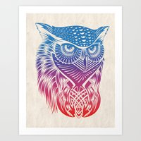 Owl Of Color Art Print