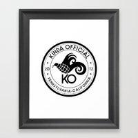 Kinda Official Framed Art Print