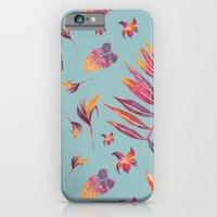 iPhone & iPod Case featuring Sunset Tropical Pattern by Mei Lee