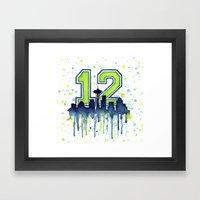 Seattle 12th Man Art Sky… Framed Art Print