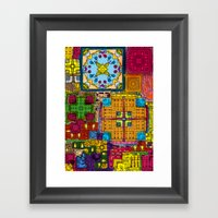 Colourful collage Framed Art Print