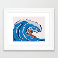Framed Art Print featuring Pressing Waves by Danielle Podeszek