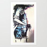 Thinking Of Art Print