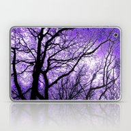 Laptop & iPad Skin featuring The Trees Know (purple) by NatalieCatLee