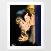 Kissing River Art Print