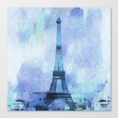 Blue Paris Canvas Print