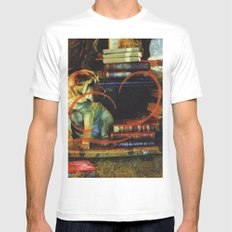 Paper Dog White Mens Fitted Tee SMALL