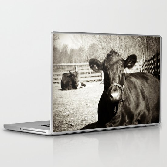 Black Cow Laptop & iPad Skin