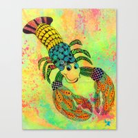 Zentangle Lobster Canvas Print