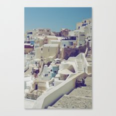 Streets of Santorini II Canvas Print