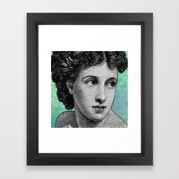 Seductress Blue Framed Art Print