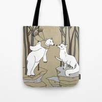 Arctic fox and Polar bear, Romeo and Juliet Tote Bag
