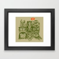 Wisdom To The Nines Framed Art Print