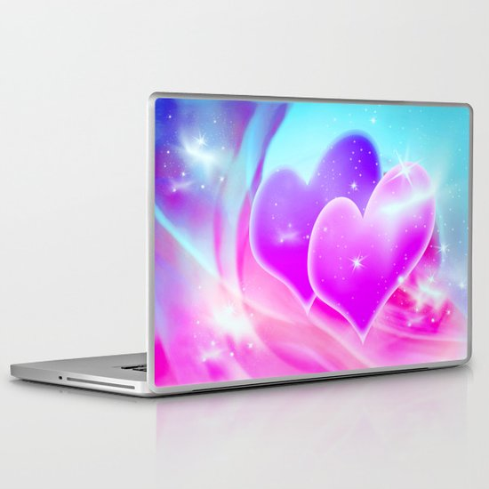 Two Hearts Laptop & iPad Skin