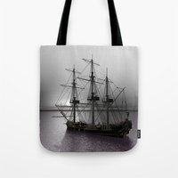 Sailing Along The Cold S… Tote Bag