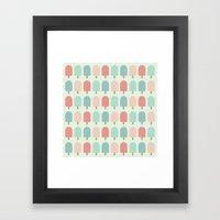 POPSICLES - BLUE Framed Art Print