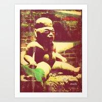 Mayan figurine Art Print