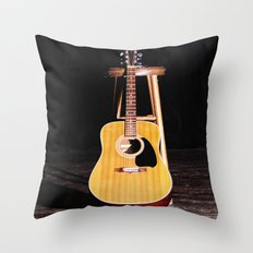 The Silent Guitar Throw Pillow