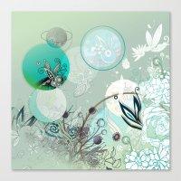 Floral Collage Canvas Print