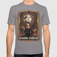 Snow White Mens Fitted Tee Tri-Grey SMALL