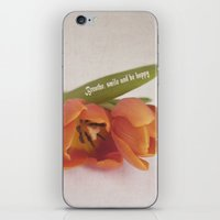 Red Tulip Duo iPhone & iPod Skin