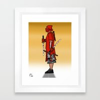 Street Samurai Series - Red Sun Framed Art Print