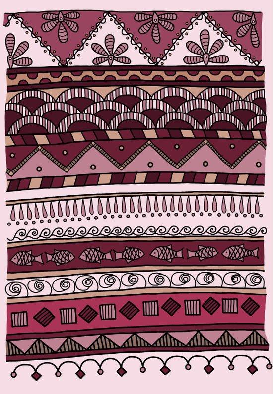 Yzor pattern 004 lilac Art Print