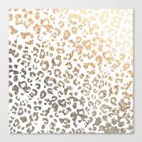 GOLD LEO Canvas Print
