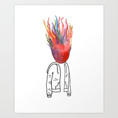 Seeing Red Art Print