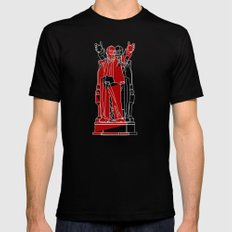 Soyuz 2013 Symposium Two Lenins Mens Fitted Tee Black SMALL