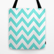 TEAL CHEVRON Tote Bag