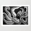 Sharktopus Art Print