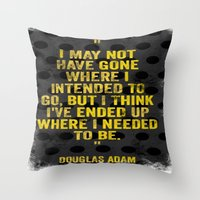 Intentions  Throw Pillow