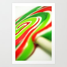 Retro Lolly. Art Print