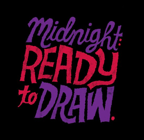 Midnight: Ready to Draw Canvas Print